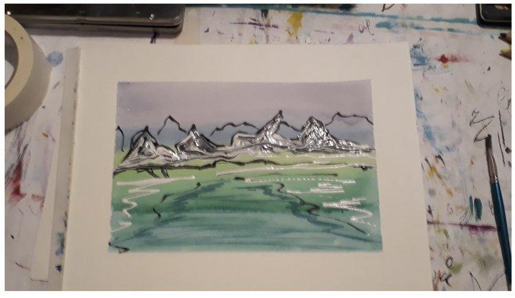 Silvery Water Landscape